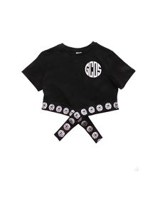 GCDS - Branded band t-shirt in black