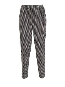 Seventy - Printed pants in black and cream color