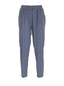 Seventy - Printed pants in blue and cream color