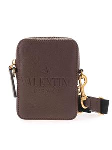 Valentino Garavani - Logo cross body bag in dark brown