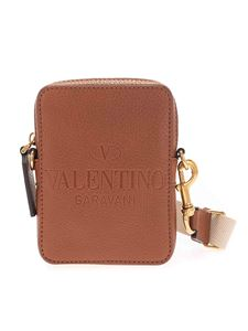 Valentino Garavani - Logo cross body bag in brown