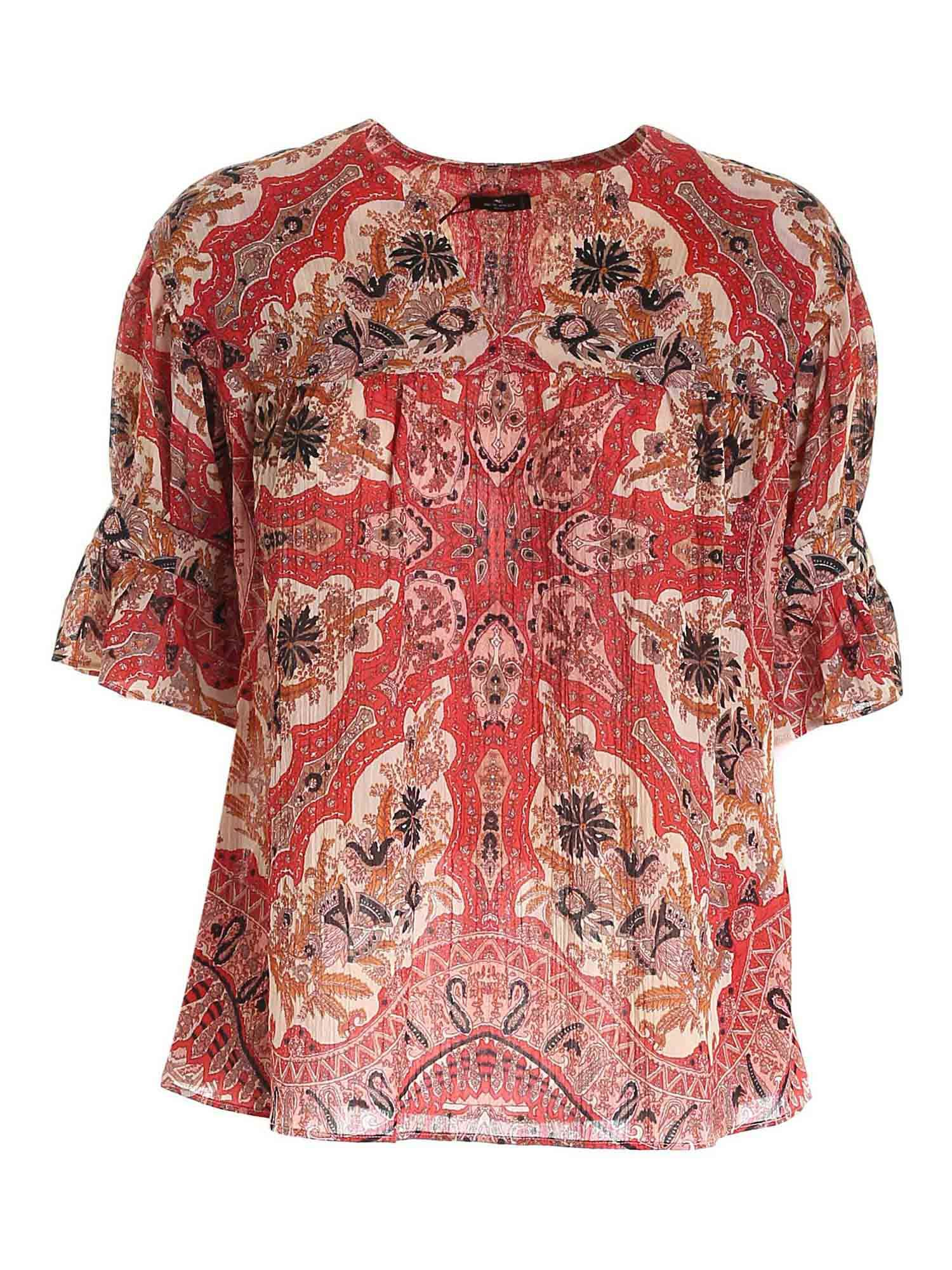 Etro PAISLEY PRINT BLOUSE IN RED