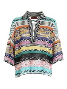 Missoni - Knitted multicolor boxy blouse