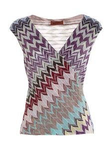 Missoni - Lamé knitted multicolor top