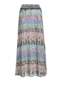 Missoni - Loose fit lamé knitted multicolor skirt