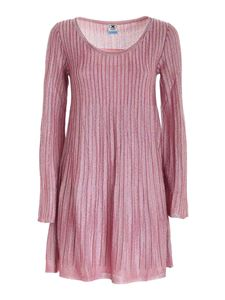 M Missoni - Lamé knitted dress in pink