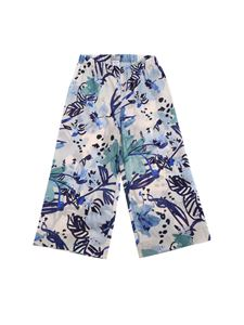 Il Gufo - Floral print pants in white