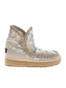 Mou - Eskimo 18 ankle boots in silver color