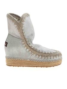 Mou - Eskimo ankle boots in silver color
