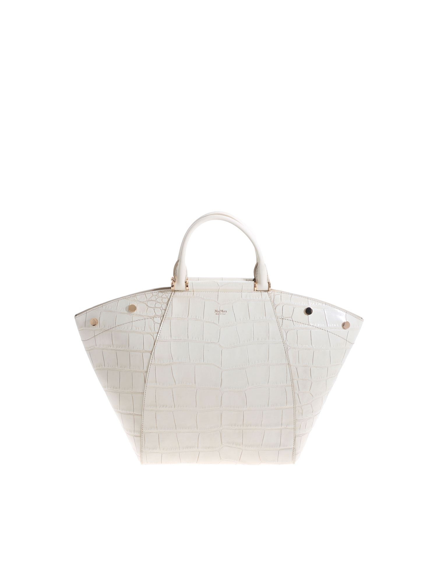 Max Mara ANITAM2 HANDBAG IN IVORY COLOR