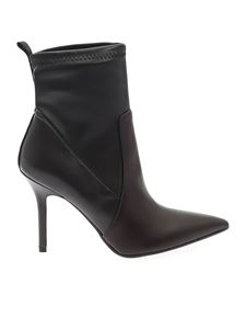 Karl Lagerfeld - Pointed ankle boots in black