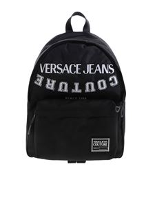 Versace Jeans Couture - Logo embroidery backpack in black