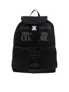 Versace Jeans Couture - Logo print backpack in black