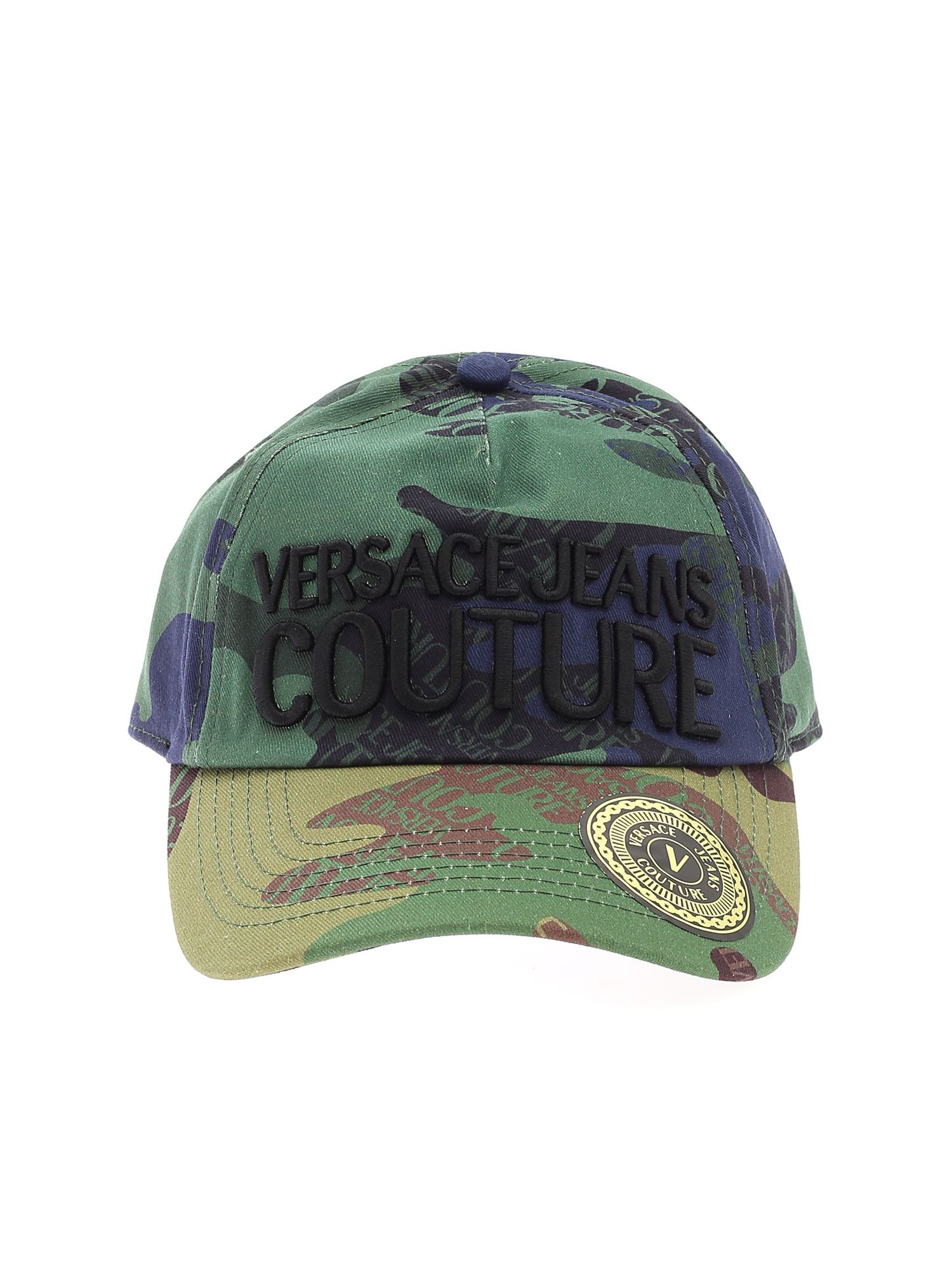 Versace Jeans Couture LOGO CAP IN SHADES OF GREEN