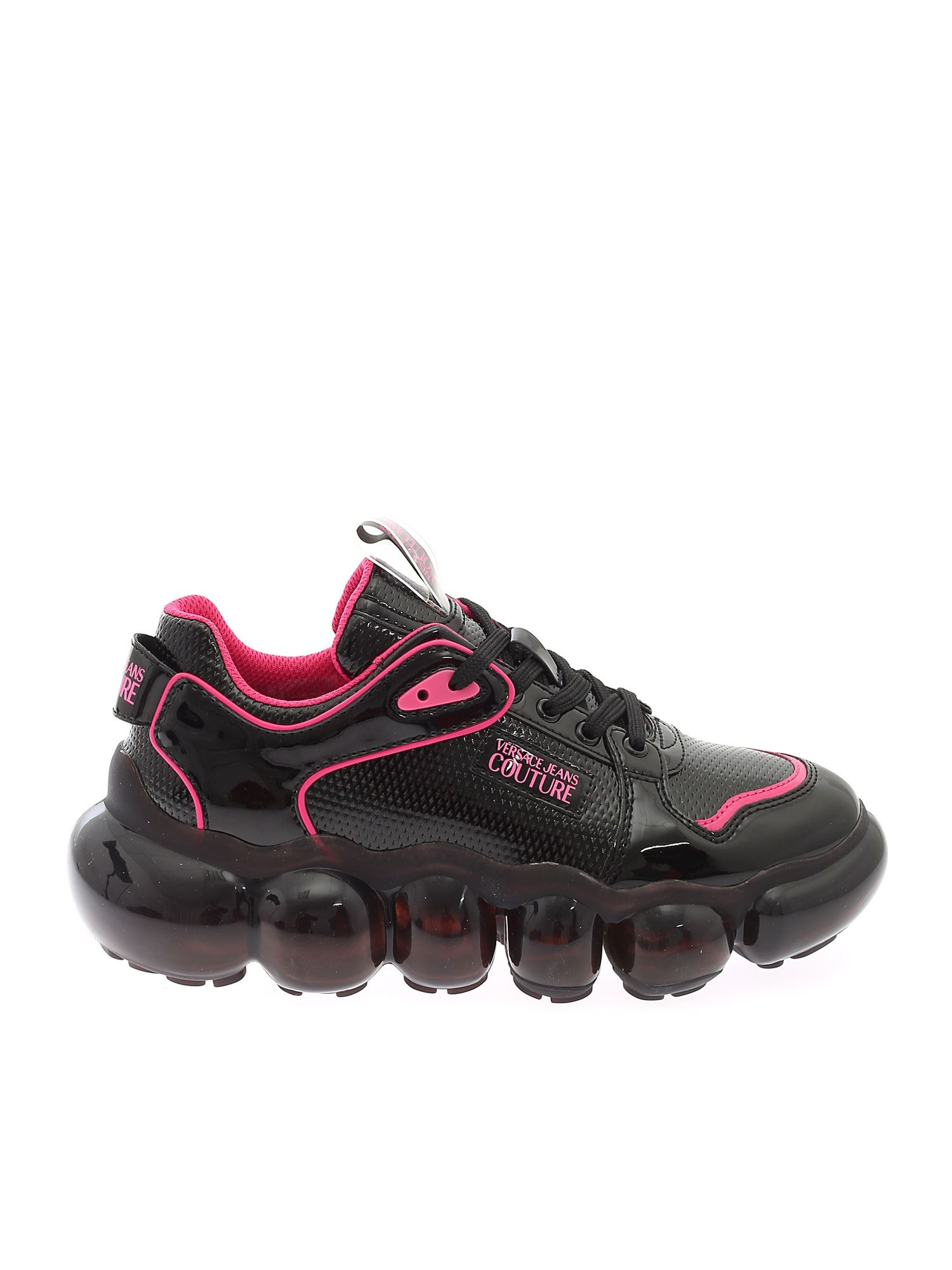 Versace Jeans Couture Sneakers FUCHSIA DETAILS SNEAKERS IN BLACK