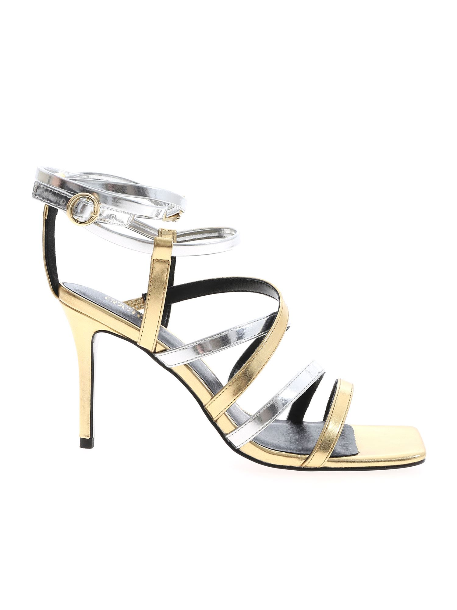 Versace Jeans Couture SANDALS IN GOLD AND SILVER COLOR