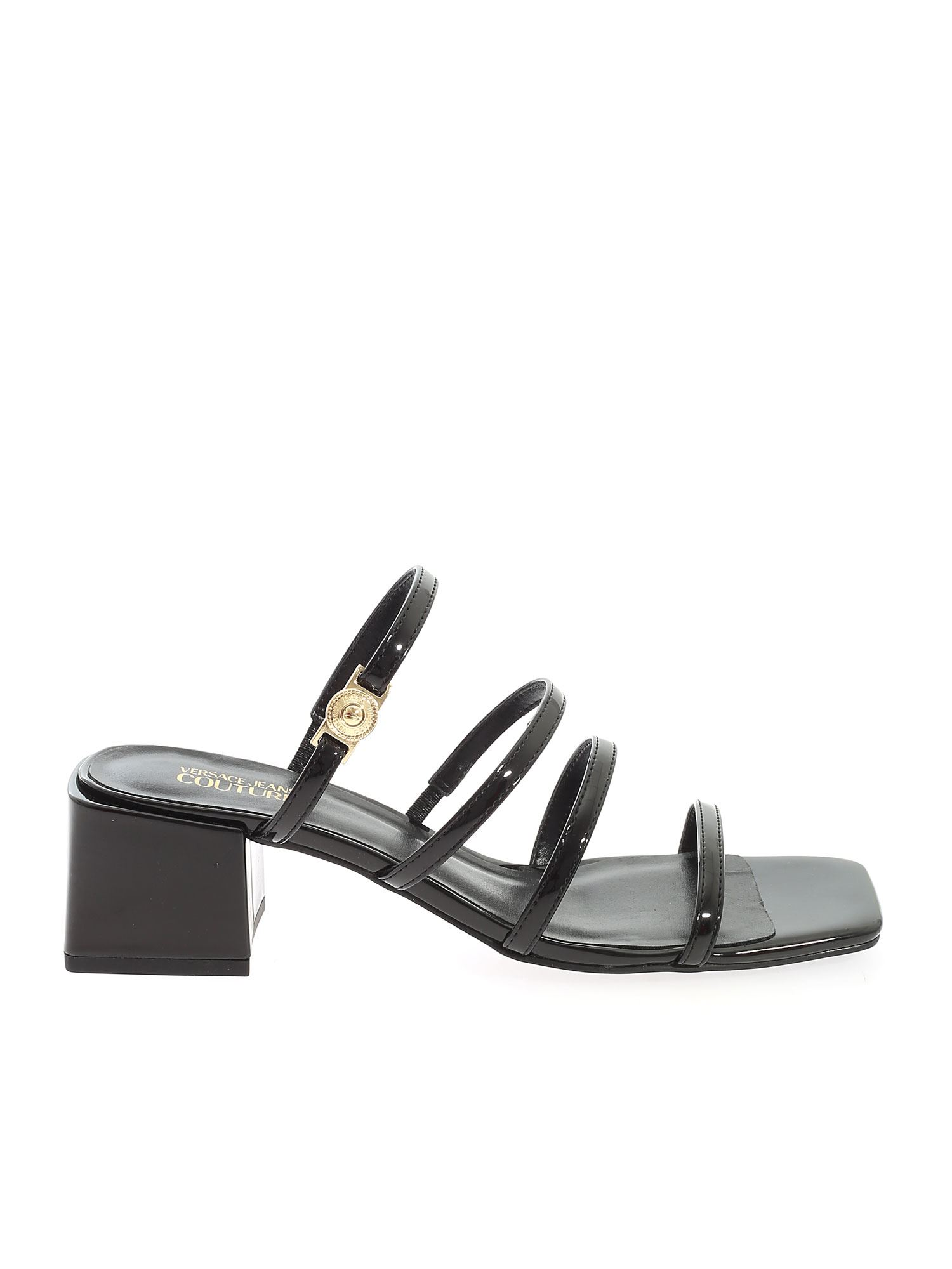 Versace Jeans Couture STRIP SANDALS IN BLACK