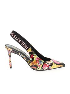 Versace Jeans Couture - Printed pumps in black