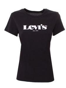 Levi's - White logo t-shirt in black