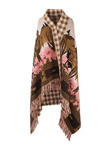 Alanui - Saguaro Lovers Icon blanket in shades of brown