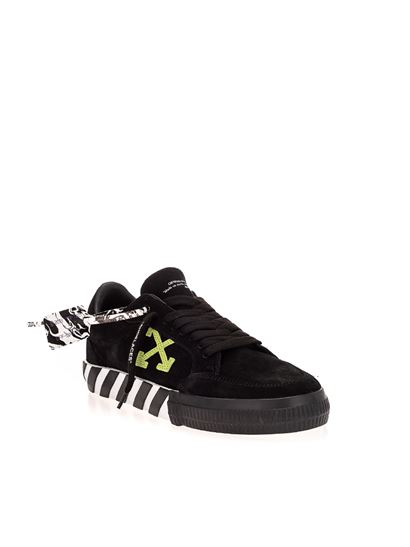 Off-White - Low Vulcanized sneakers in black and green