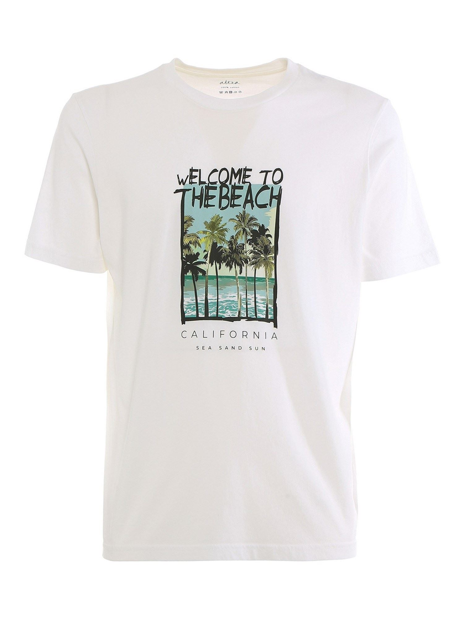 Altea Cottons LEWIS T-SHIRT IN WHITE