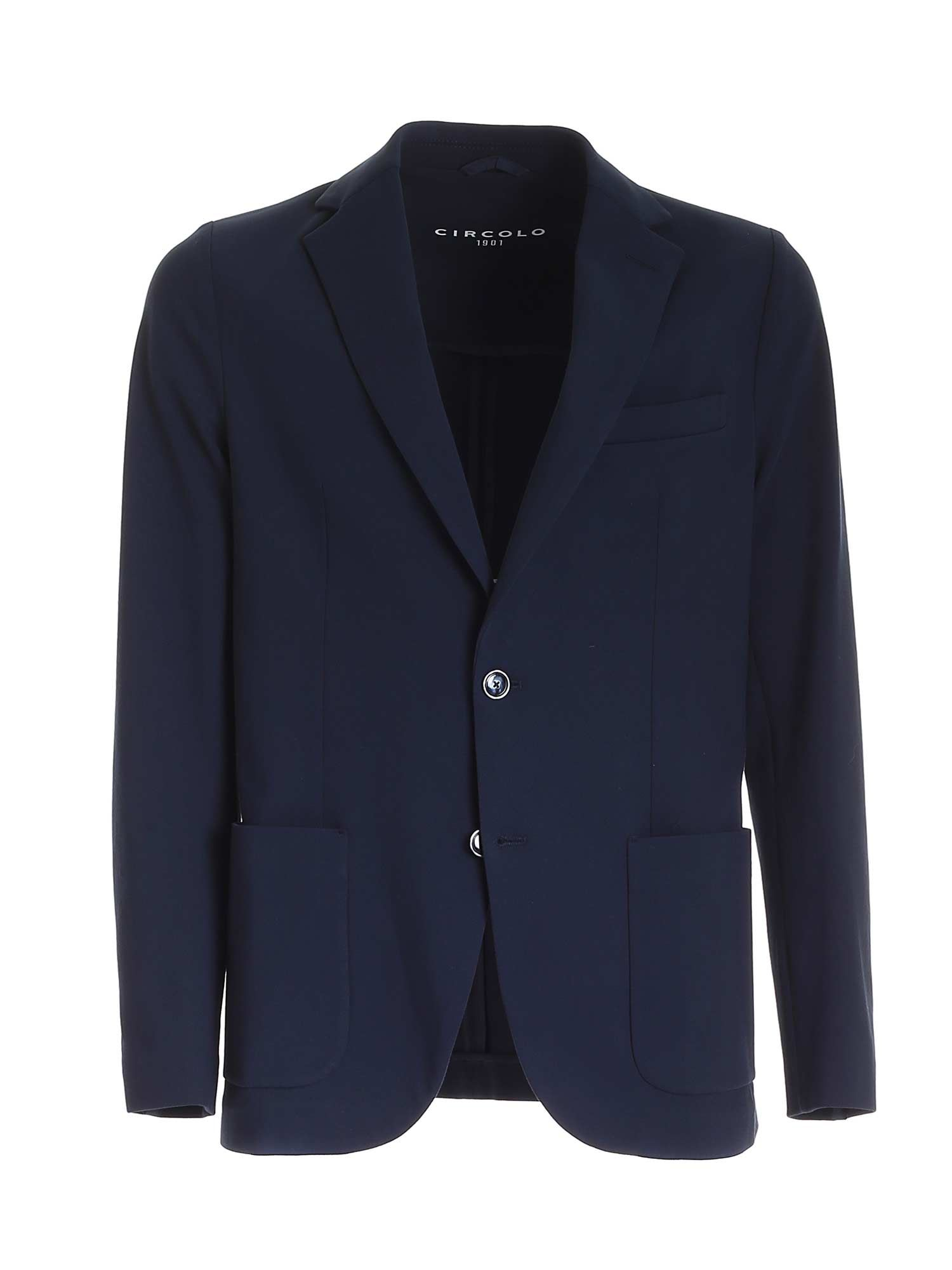 Circolo 1901 SINGLE-BREASTED JACKET IN BLUE