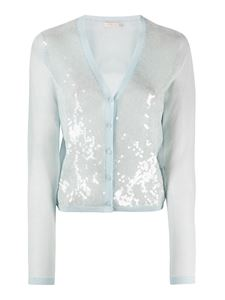 Tory Burch - Sequined cardigan in light blue