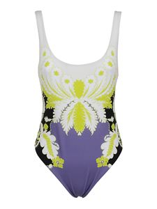 Valentino - Patterned one-piece swimsuit in purple