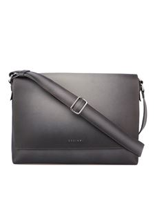 Orciani - Micron Deep leather messenger bag in Gravity color