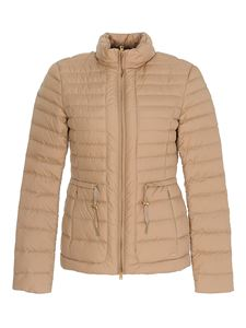 Woolrich - Hibiscus quilted puffer jacket in beige
