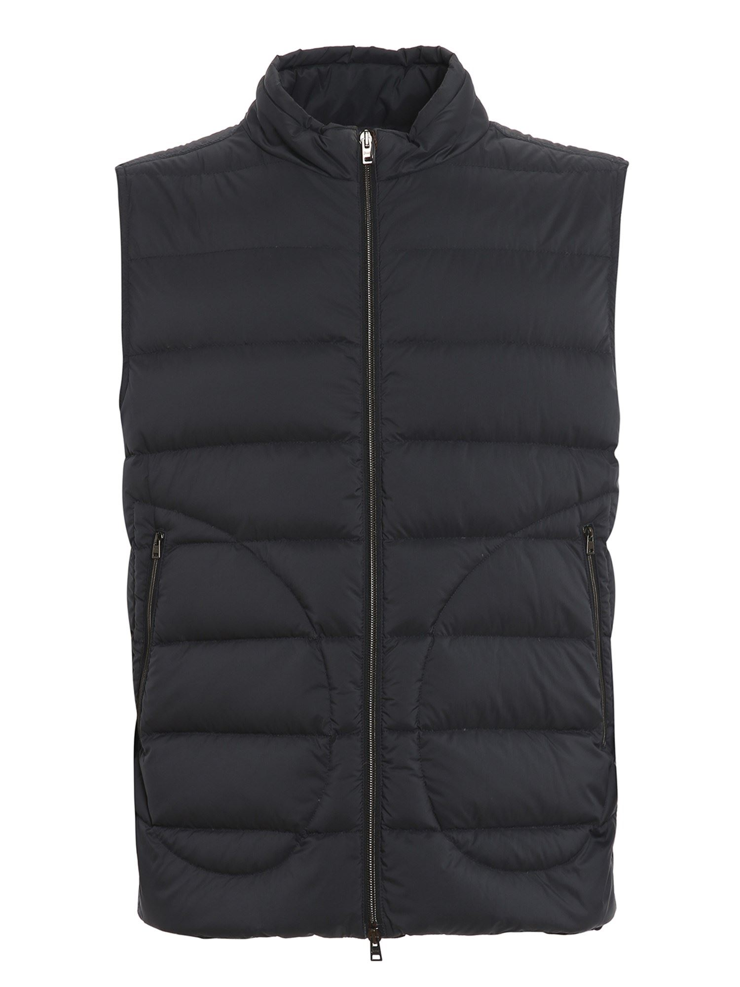 Herno Vests QUILTED NYLON PADDED GILET IN BLUE