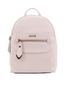 Liujo - Faux leather backpack in cream color