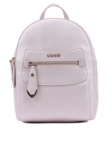 Liujo - Laminated faux leather backpack in gold color