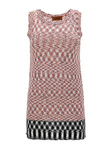 Missoni - Mixed chevron patterned top in pink