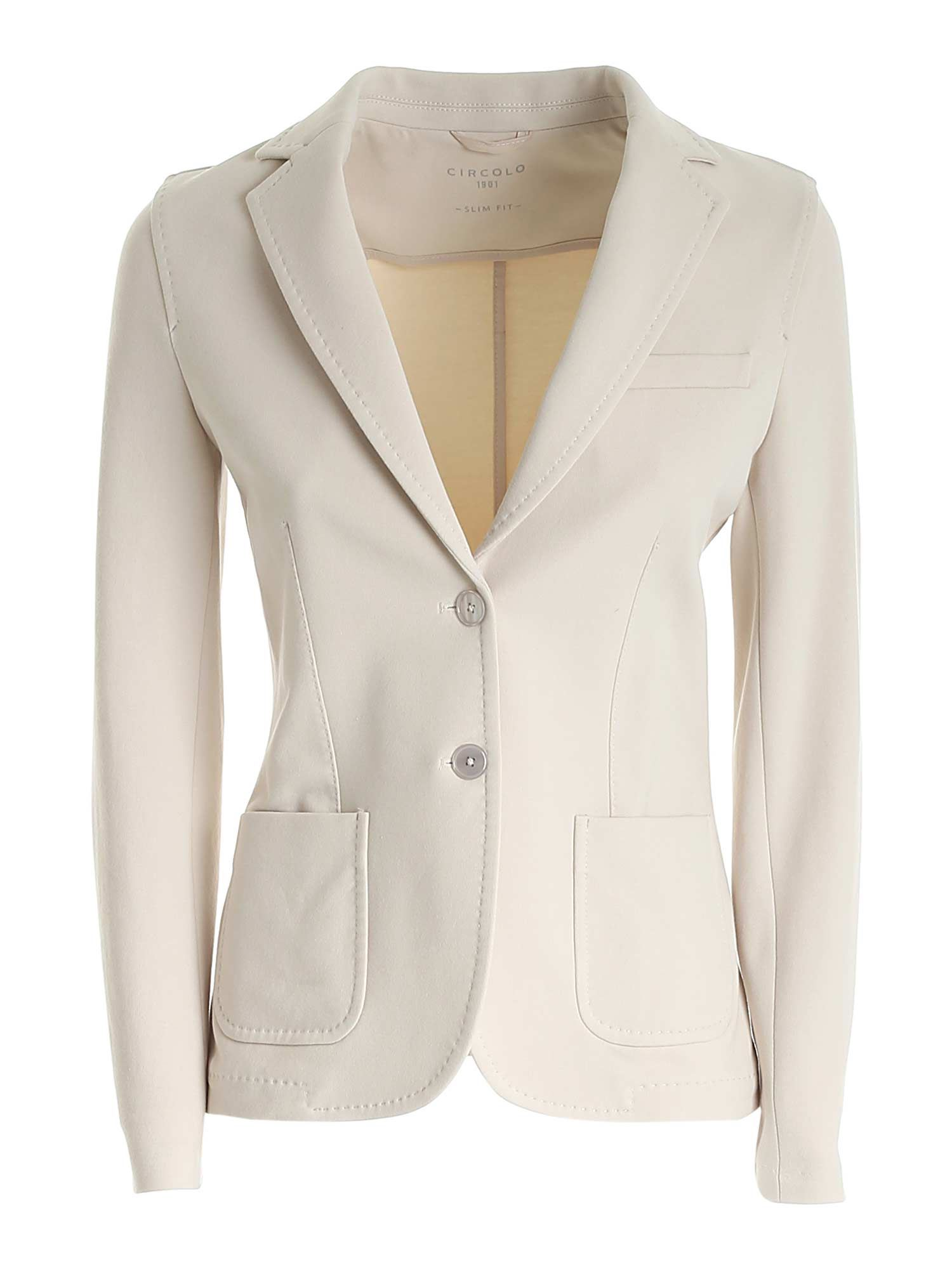 Circolo 1901 SINGLE-BREASTED JACKET IN LIGHT BEIGE