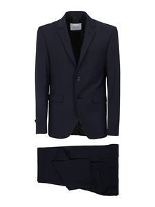 Dondup - Wool blend two-piece suit in blue