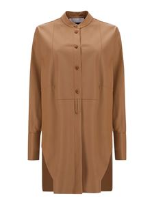 DROMe - Leather shirt in brown