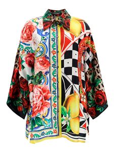 Dolce & Gabbana - Patchwork patterned shirt in multicolor
