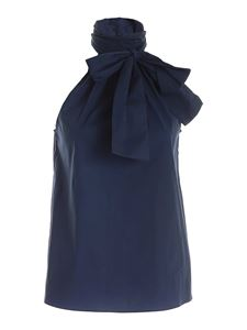 Michael Kors - Bow sleeveless top in blue