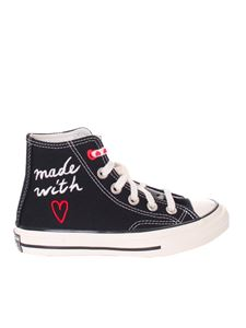 Converse - Valetine's Day high-top sneakers in black