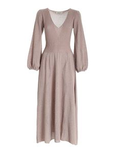 Blumarine - Lamé long dress in pink