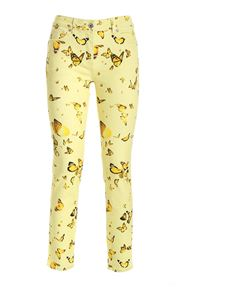 Blumarine - Butterflies print pants in yellow