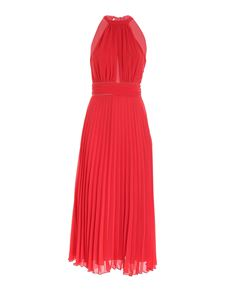 Blumarine - Pleated dress in coral red