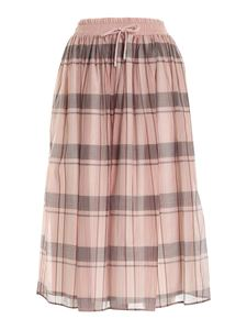 Le Tricot Perugia - Loose fit skirt in pink and grey