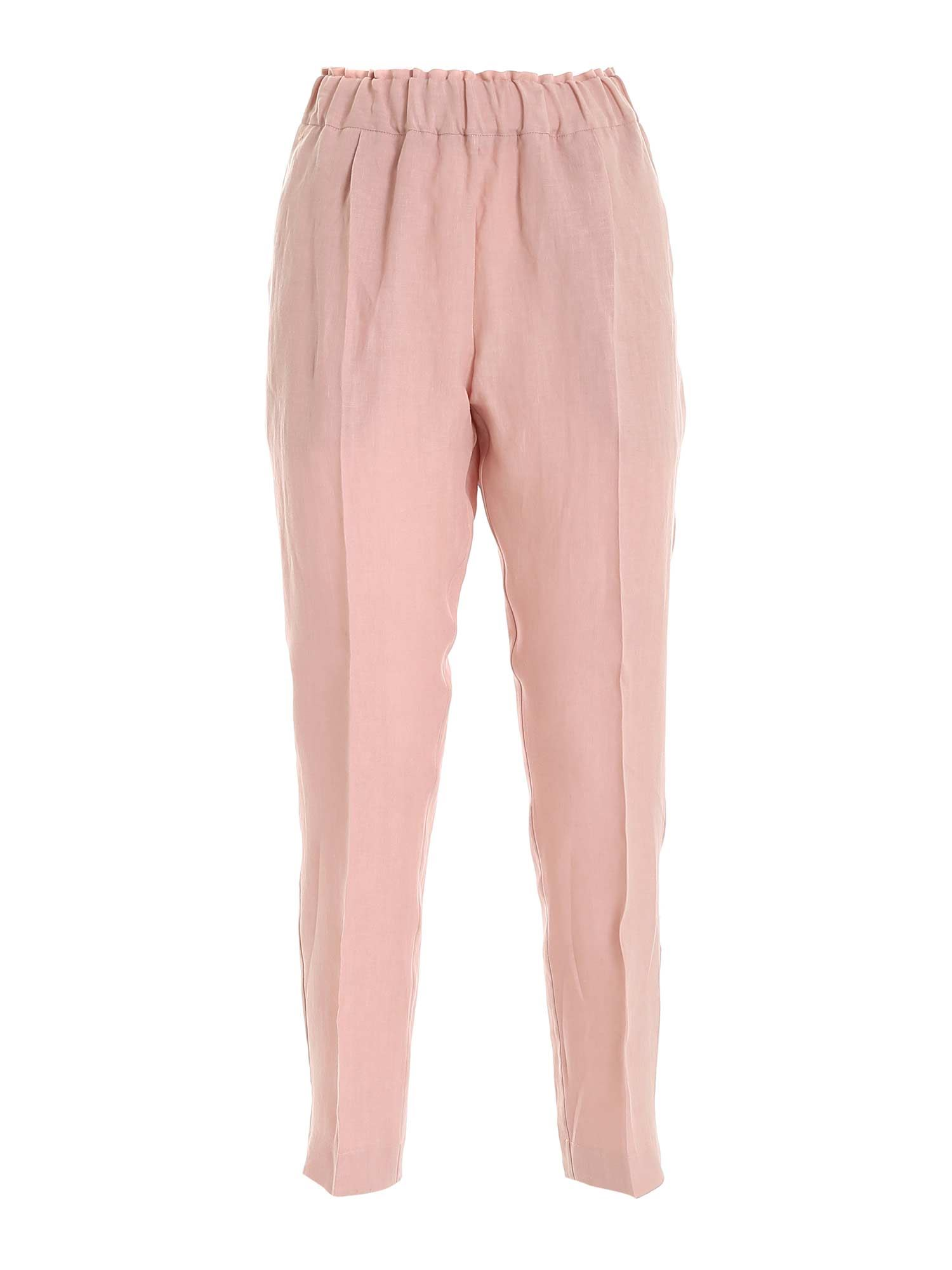 Le Tricot Perugia Pants LINEN PANTS IN PINK