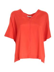 Le Tricot Perugia - Boxy T-shirt in coral red