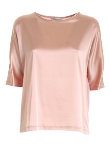 Le Tricot Perugia - Satin stretch blouse in pink