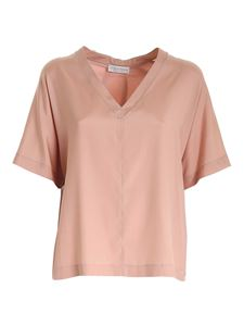 Le Tricot Perugia - Boxy T-shirt in antique pink