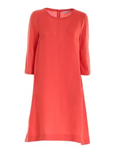 Le Tricot Perugia - Linen and jersey dress in coral red